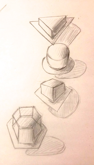 Basic Shape Compositions (Pencil)