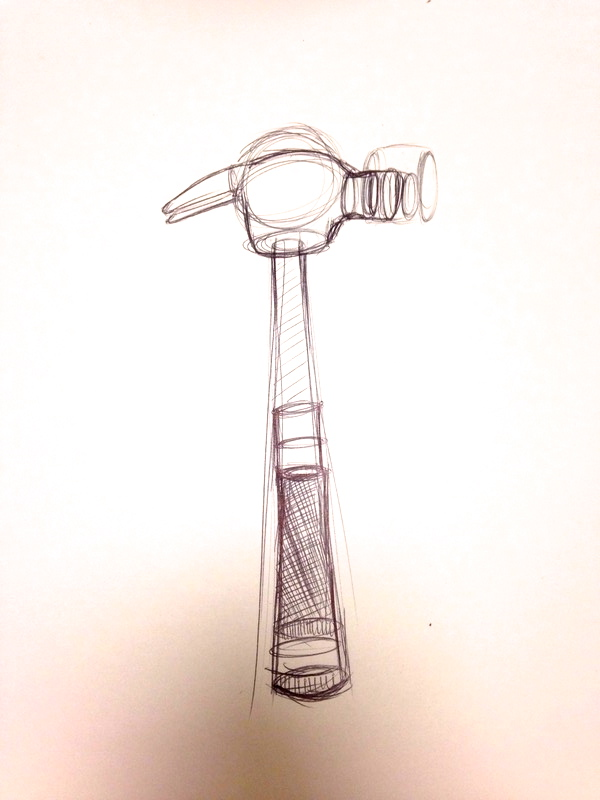 Sketch of Hammer (Pen) (1/2)