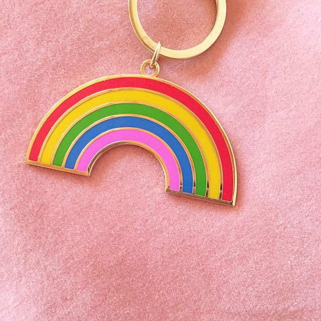 The very best new edition to my keychain 🌈 #rainbow #happysaturday
