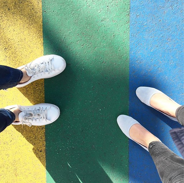 Rainbow feet friends @hollymay.c 🌈