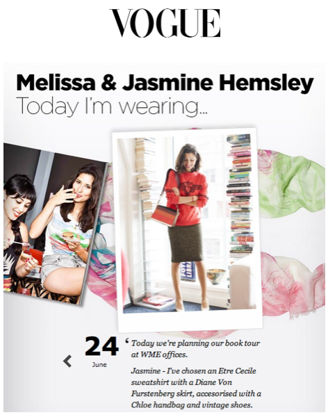 Hemsley and Hemsley Vogue UK Cecile