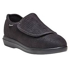 The Cush 'N Foot by Propet does just what its name implies-- it cushions the foot. It's soft, accommodating neoprene upper has an extra-large opening with a secure hook and loop closure that makes getting it on and taking it off super easy. Click on Shoe image to go to Propet website