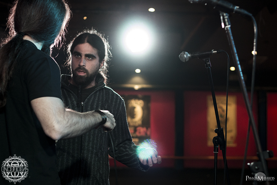 Final instructions from Andreas Karagiannis, the band's sound engineer.