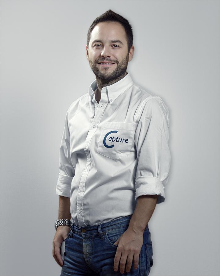 Vangelis Manolis, the library director of Capture