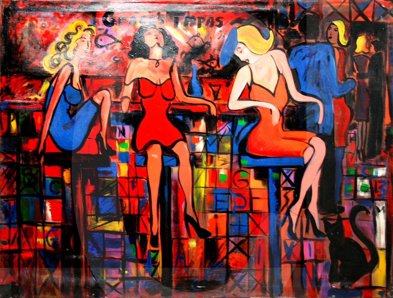 """""""Tapas Bar Ladies"""" by Grace Divine"""