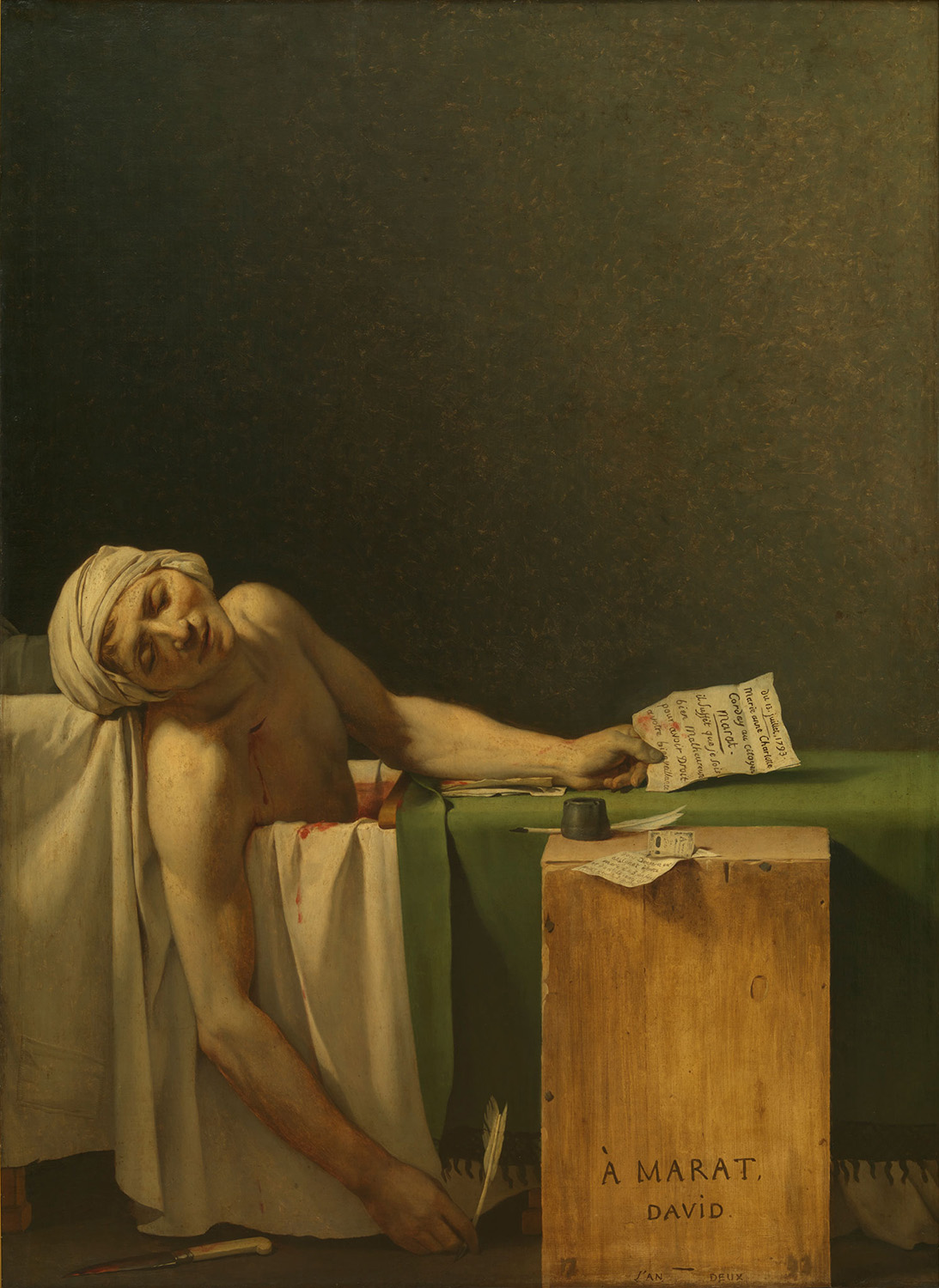 """""""The Death Of Marat"""" by Jacques-Louis David"""