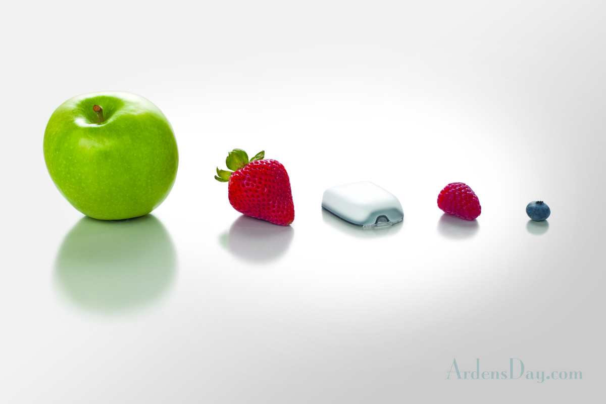 The new OmniPod is smaller then a strawberry