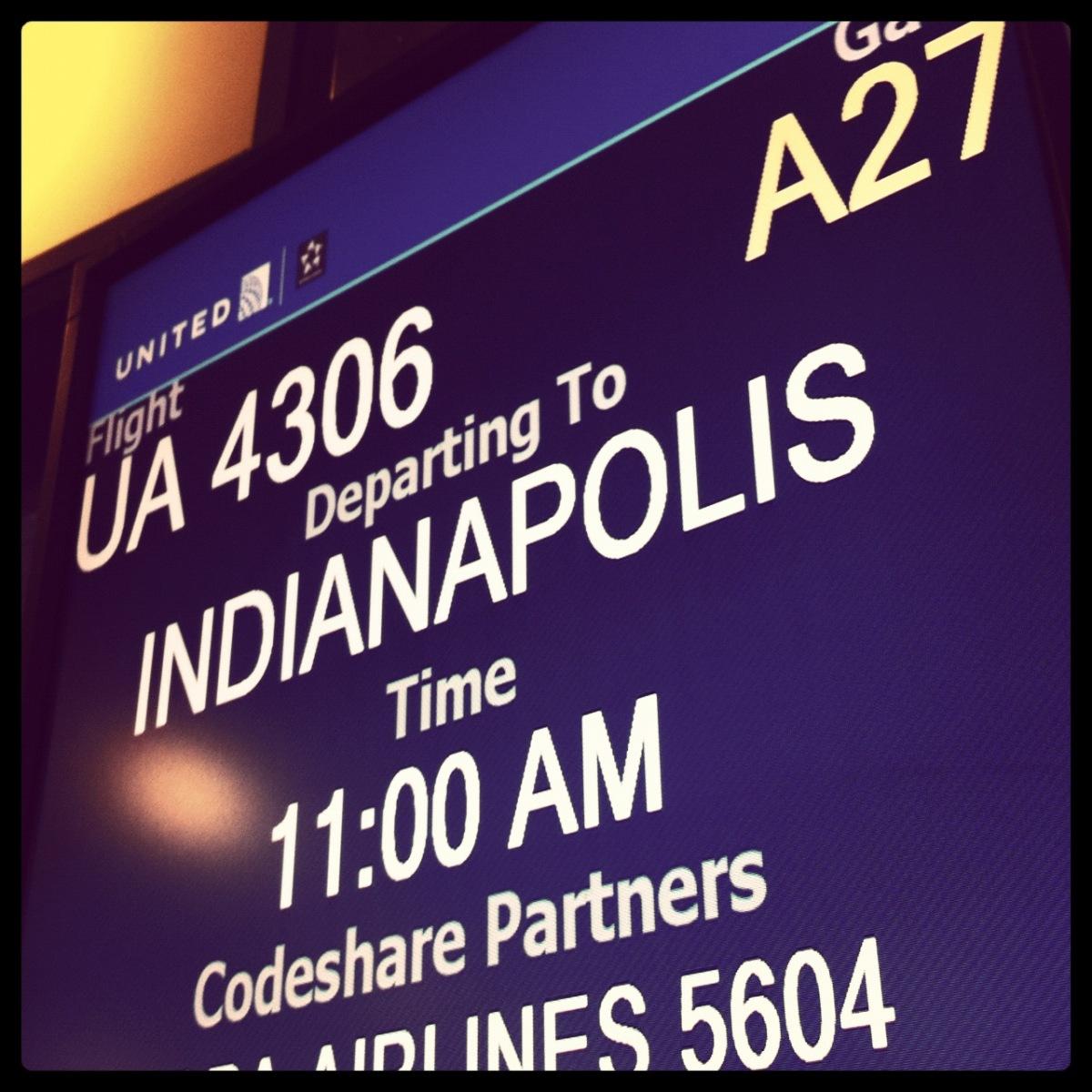 My flight to Indy