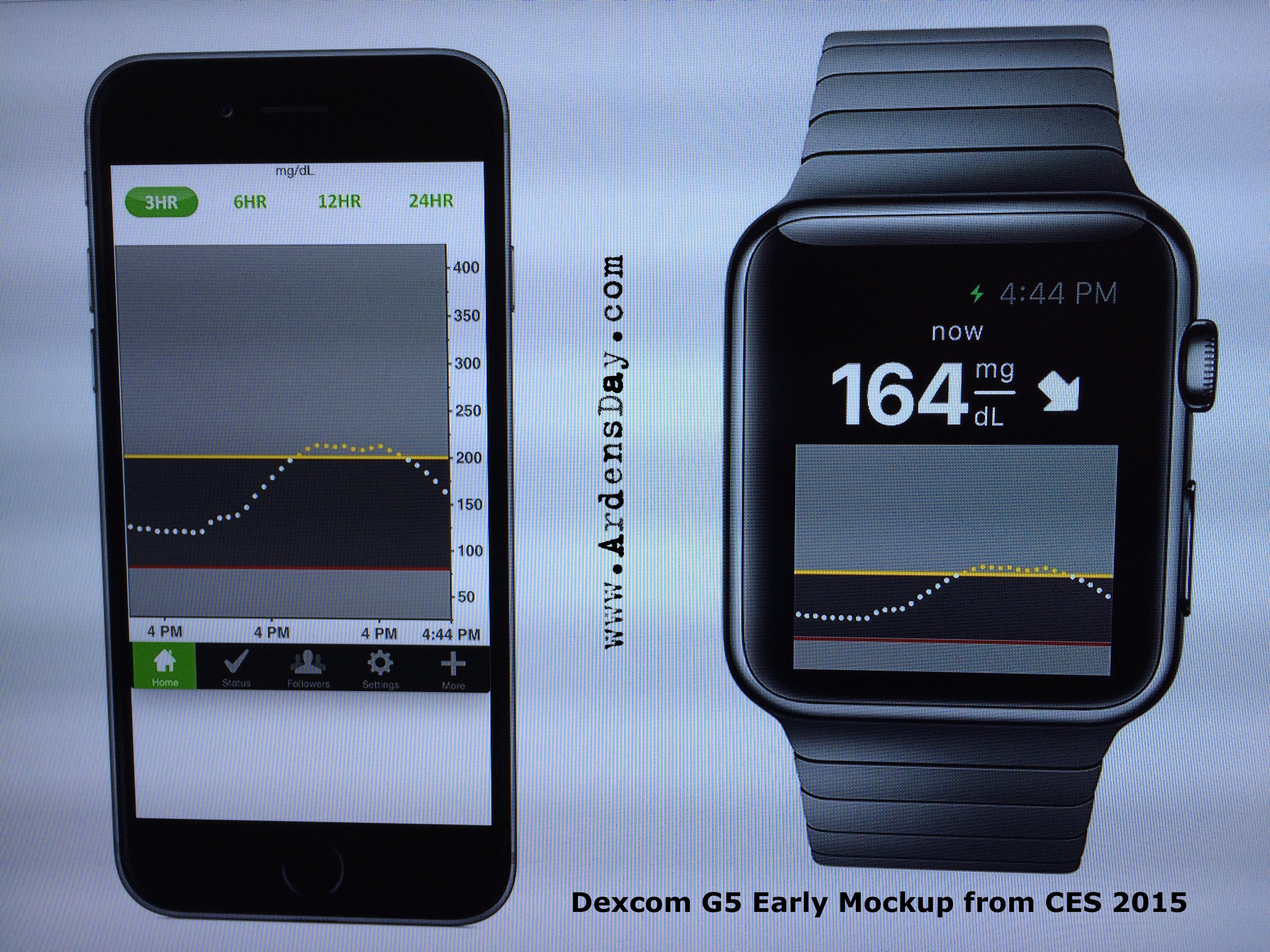 Dexcom G5 Early Mockup from CES 2015
