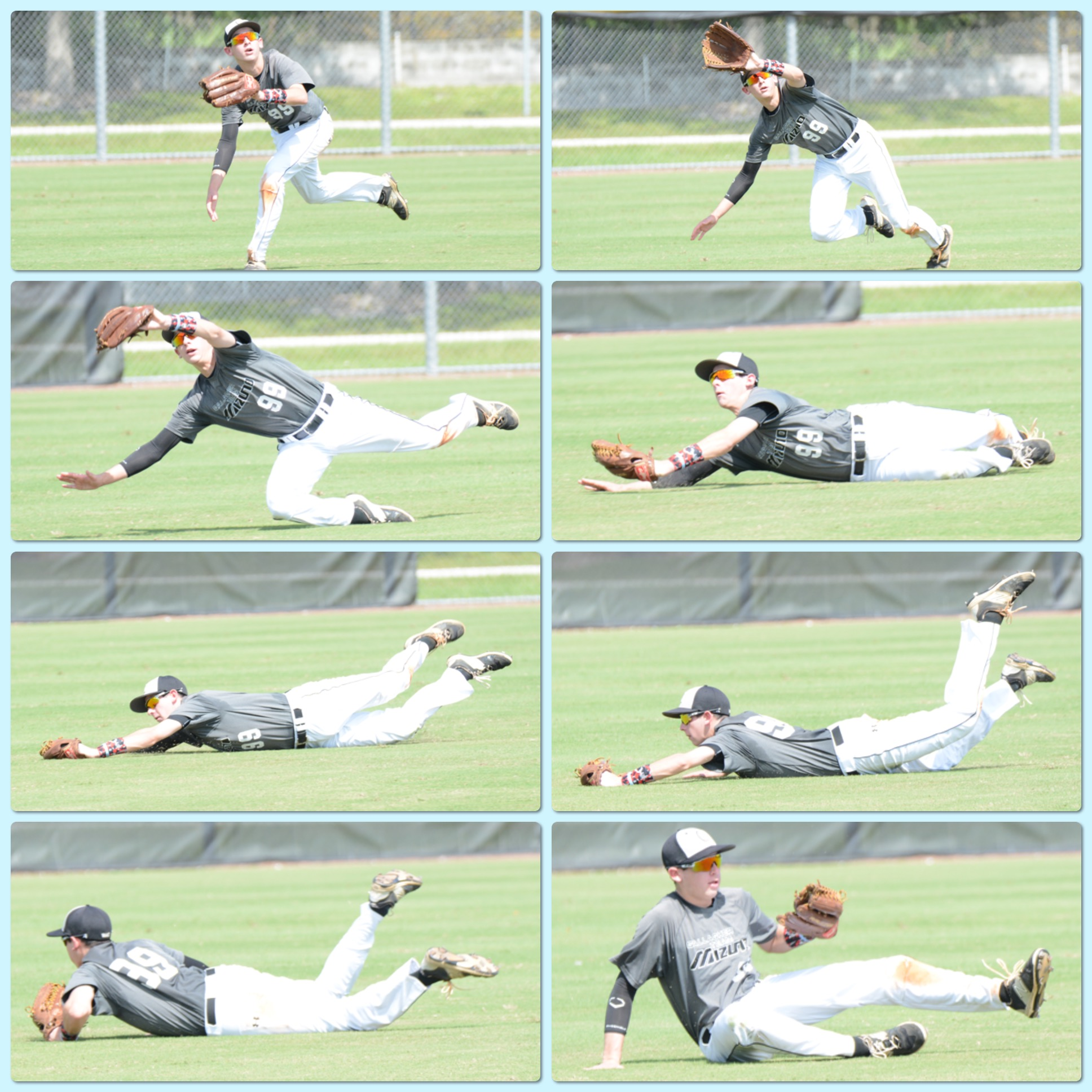 Long run in centerfield. Cole saved a game while in Florida with this catch in the last inning of game 2.