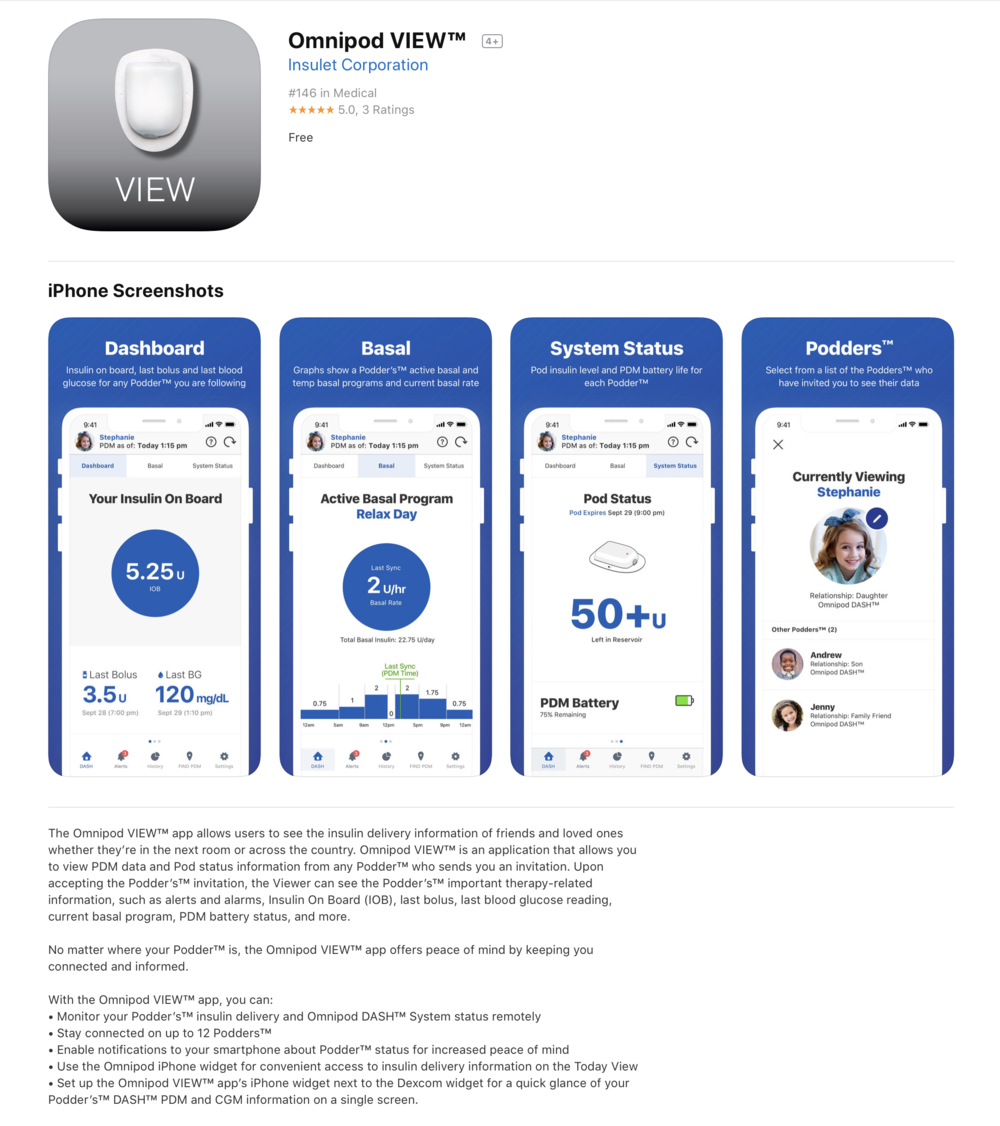 Omnipod DASH Apps are here!