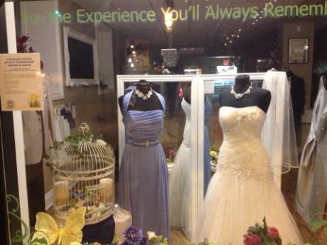 Once Upon A Time Weddings garden themed wedding display