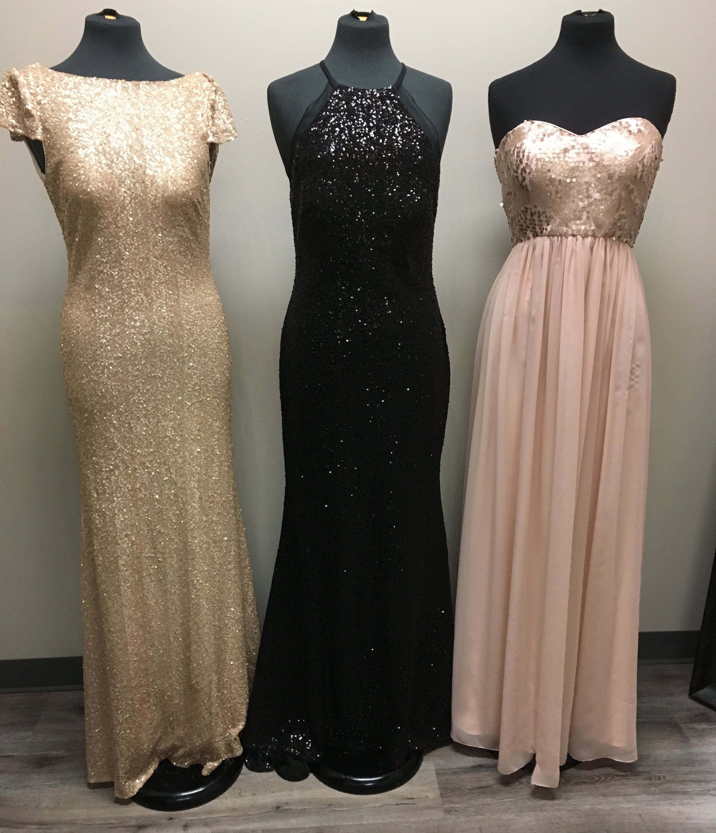 We offer lots of colours in these three squin dresses at OUTW!