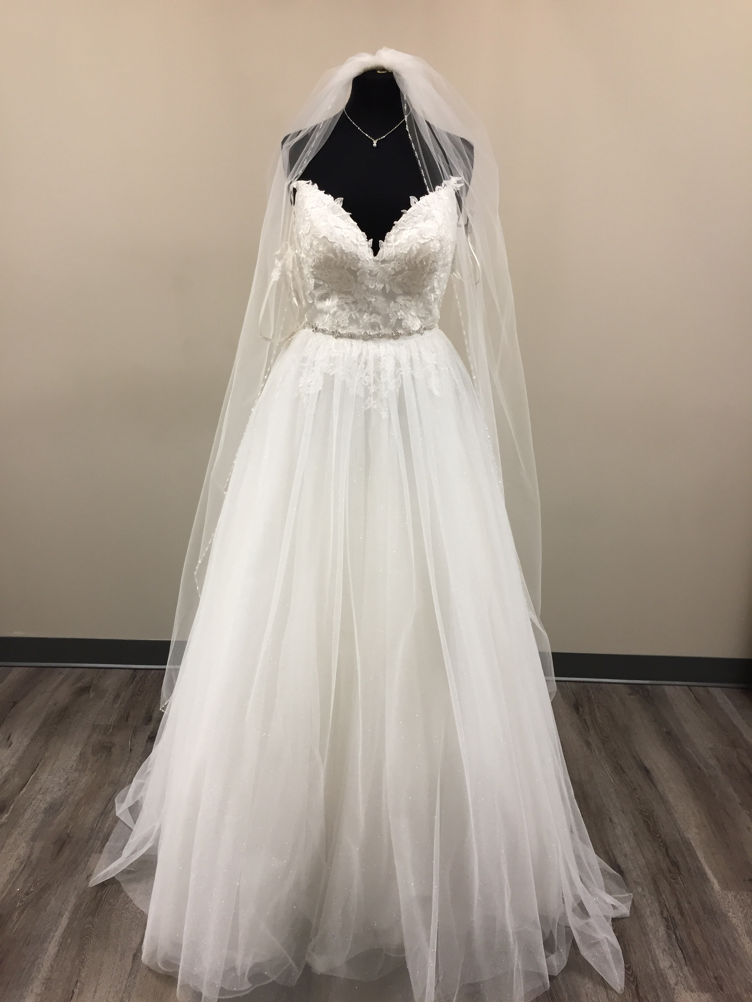 A-Line dress here at Once Upon A Time Weddings.