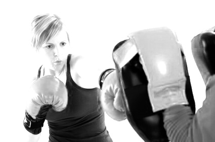 Boxing Lady B&W.jpg