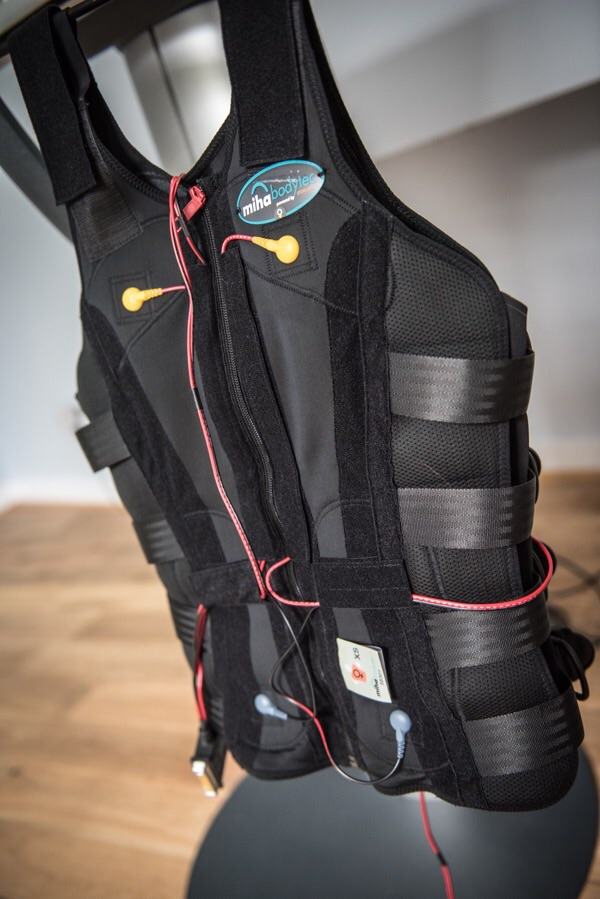 The vest allows for full body work out.