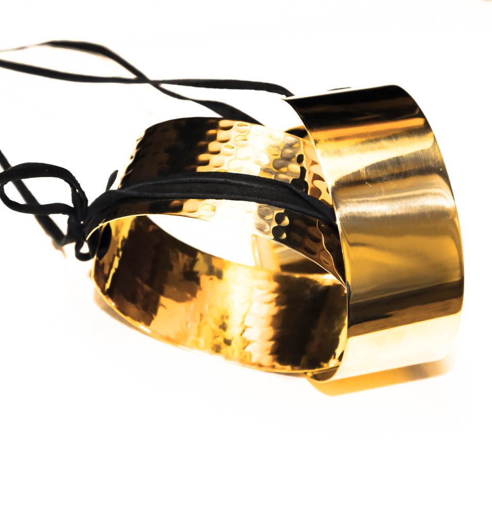 "Brass 1.5"" smooth or hammered anklet"