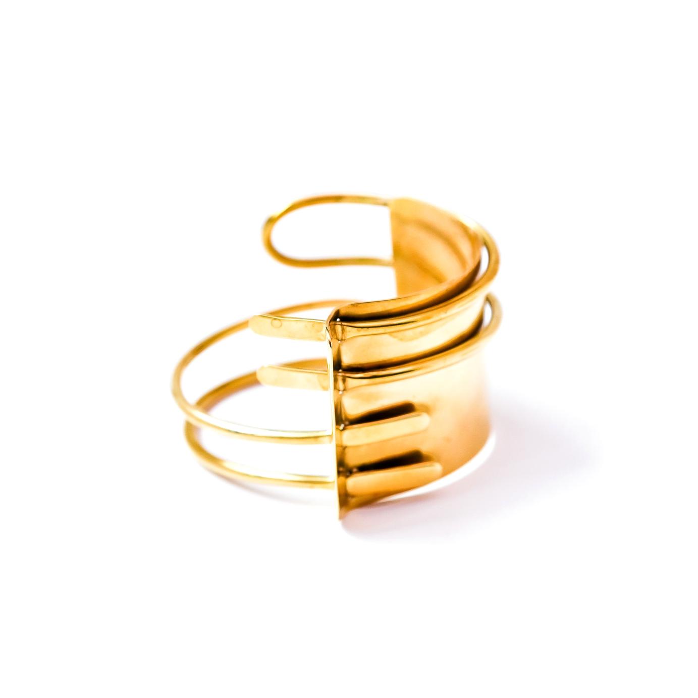 Brass Abstract balance arm band  armlet