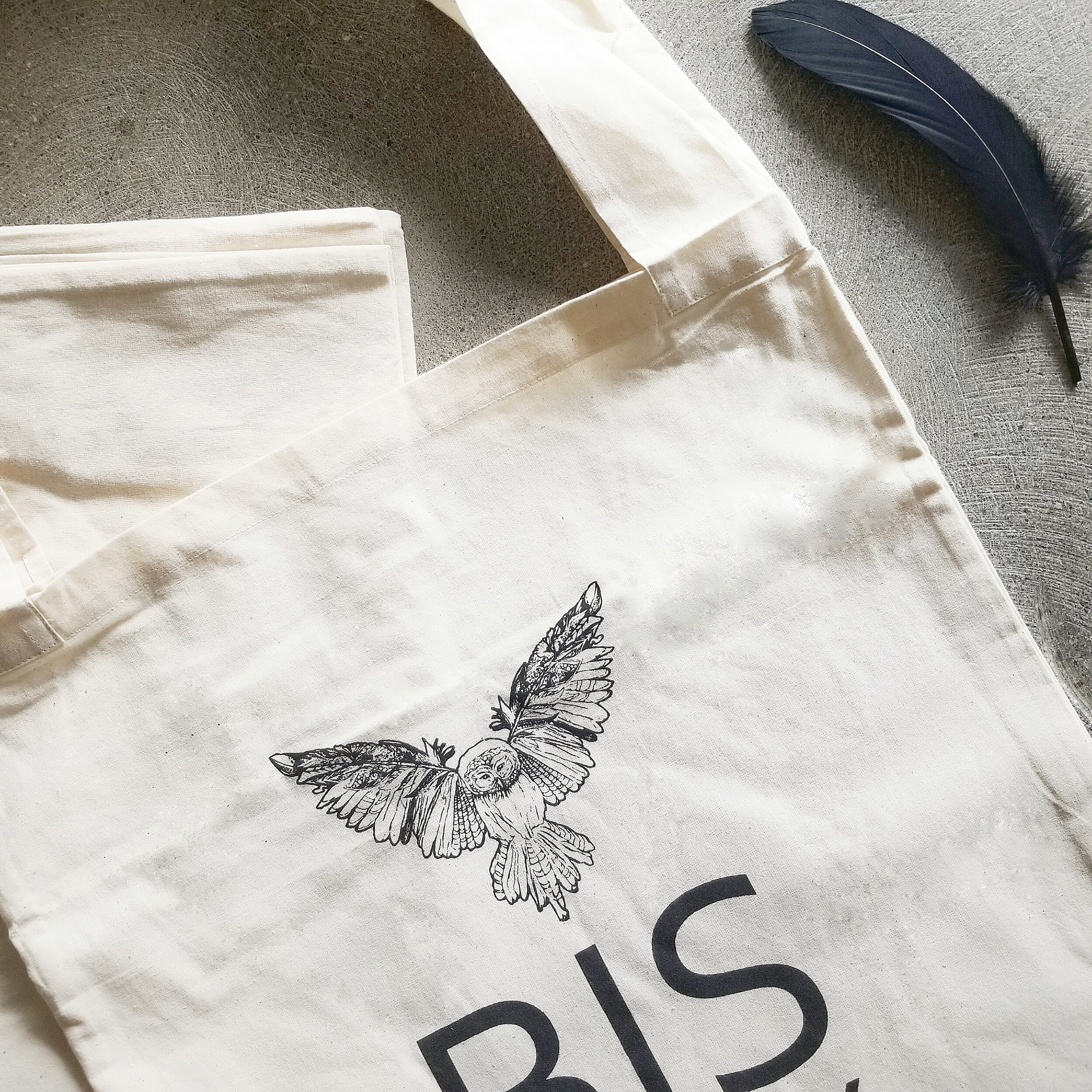 Bisjoux cotton organic block print tote