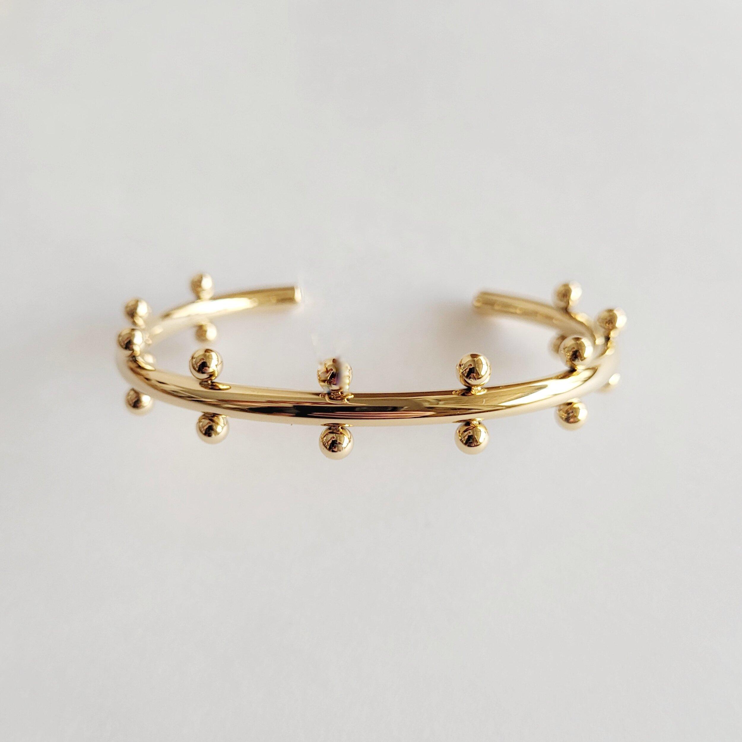 Gold plated Unity cuff bracelet