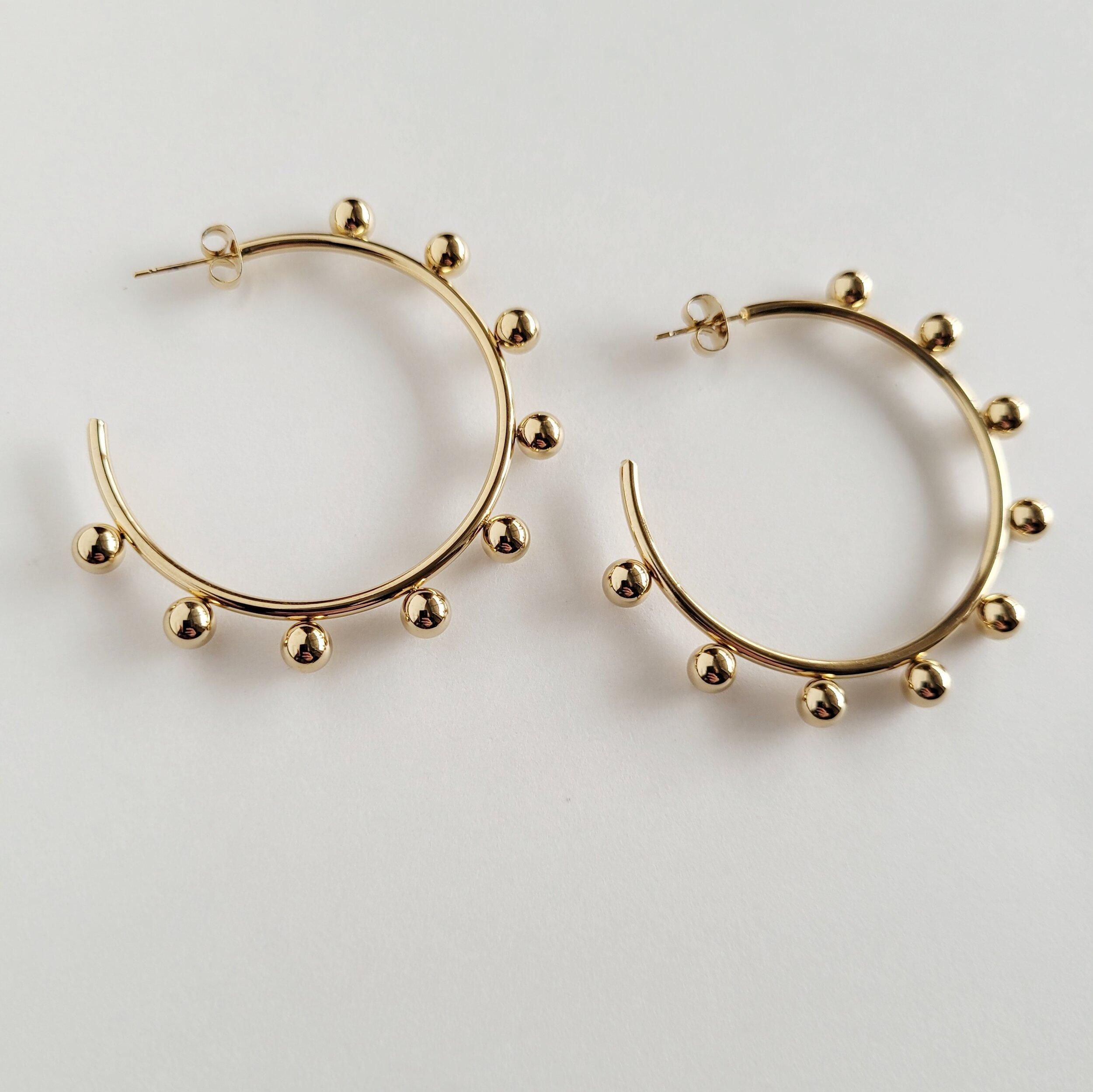 Unity gold plated hoop earrings