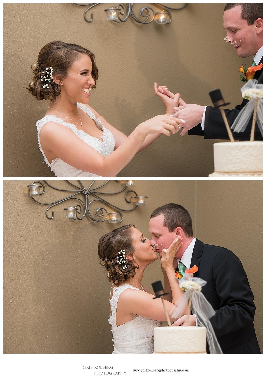Houston Wedding Photographer, Ella's Garden Wedding, cake cut