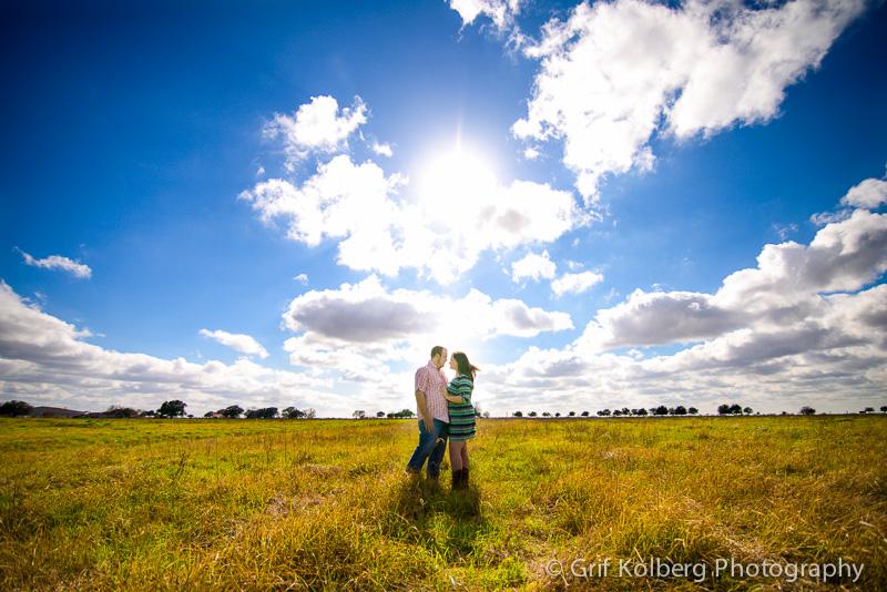Sugar Land Wedding Photographer, Beautiful Blue Sky Engagement Session