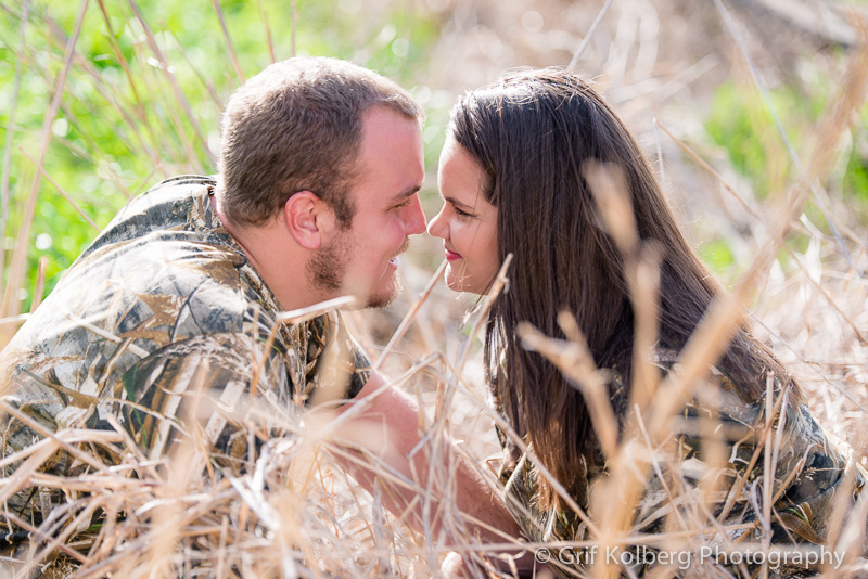 Camo Engagement Picture by Sugar Land Wedding Photographer