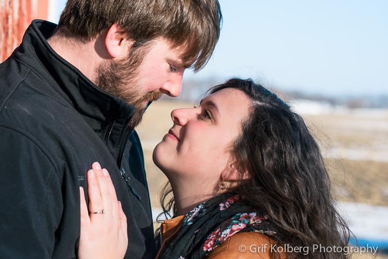 Engagement Session in Lake Mills, IA - Destination Wedding Photographer