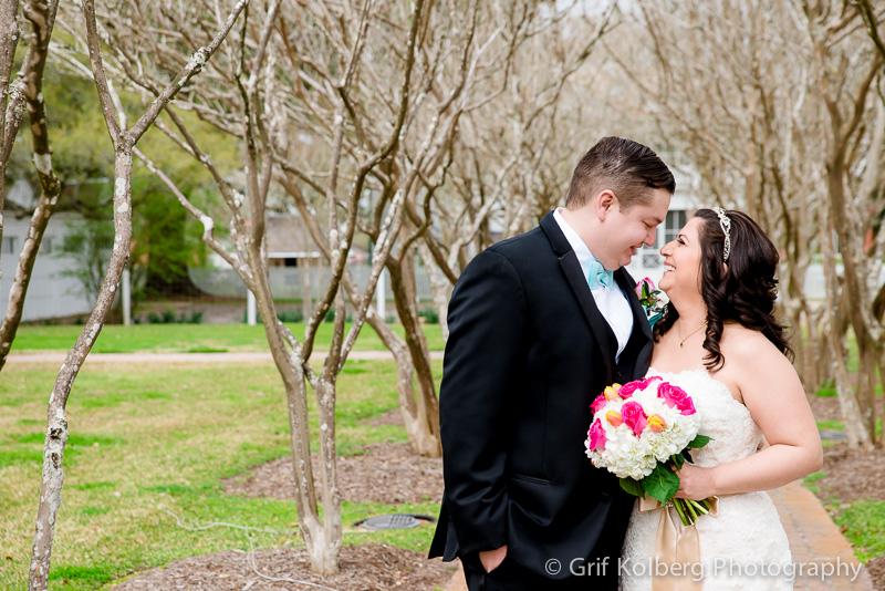 Bride and Groom at George Ranch Historical Park, Wedding Photo, Sugar Land, TX