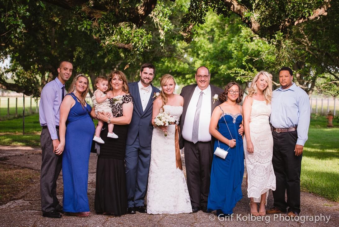 Family Portrait at George Ranch Historical Park Wedding Wedding www.grifkkolbergphotography.com