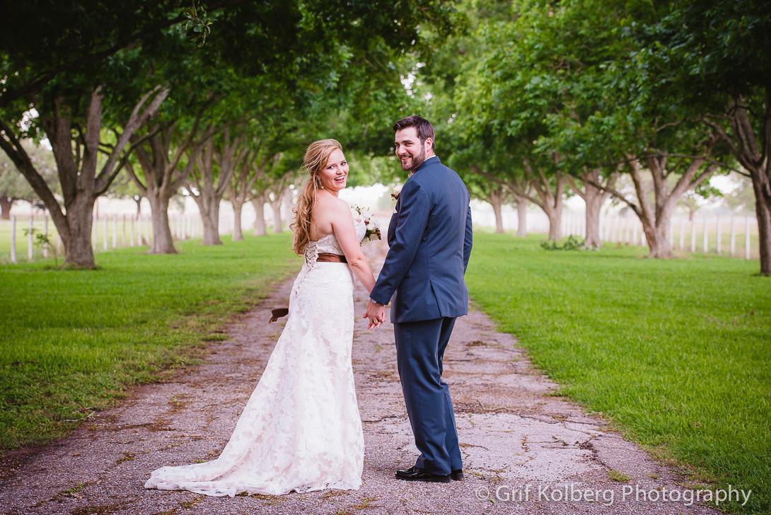 Wedding Portrait at beautiful George Ranch Historical Park Wedding