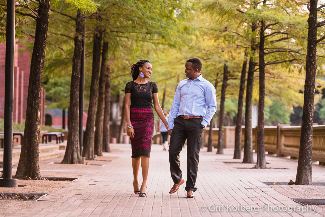 Downtown Houston Engagement Session - Houston Wedding Photographer
