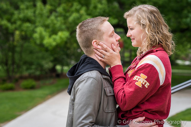 Carlie + Evan   Iowa State University   Iowa Engagement Photography
