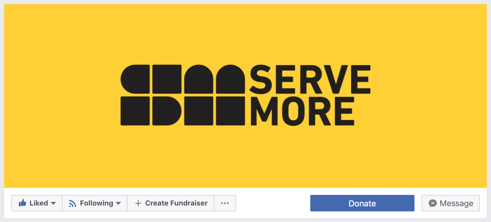 Serve More Facebook Fundraiser