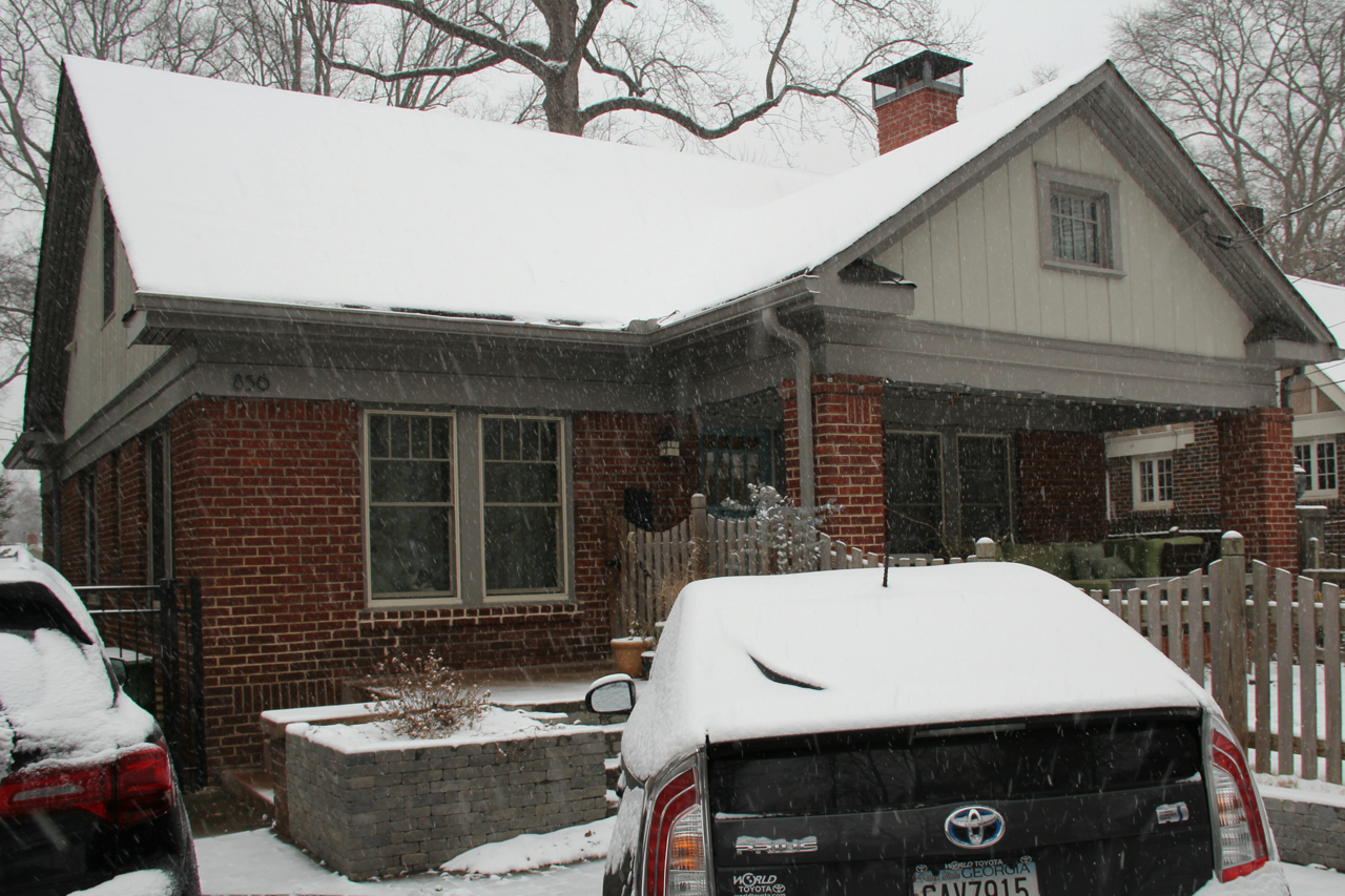 Our house blanketed in white