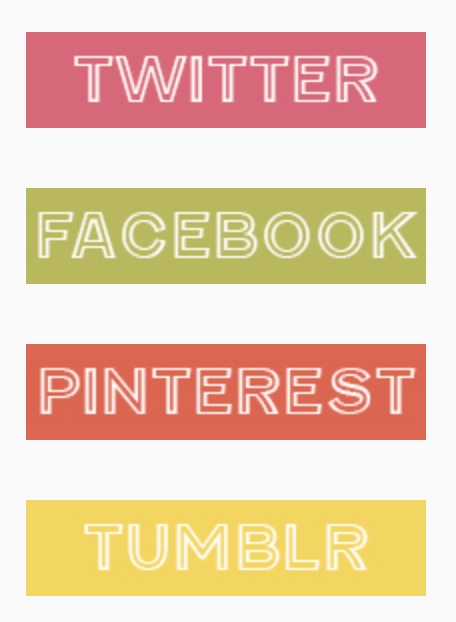 My new homemade social media buttons. Better than homemade chicken noodle soup.
