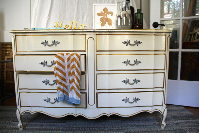 Every Angle Cream Gold Dixie Dresser, Dixie Bedroom Furniture