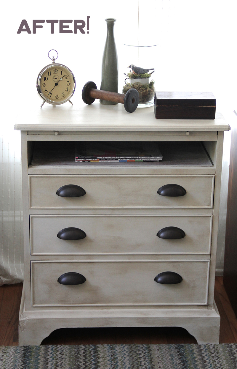 Before After Transforming A Dresser With Drawer Pulls