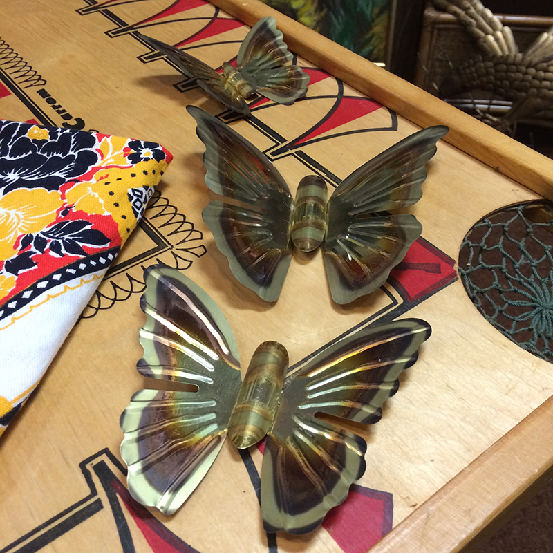 I've been wanting to find metal birds or butterflies to spray paint and mount on a wall. I love that in a kid's room, or adult's room I suppose...