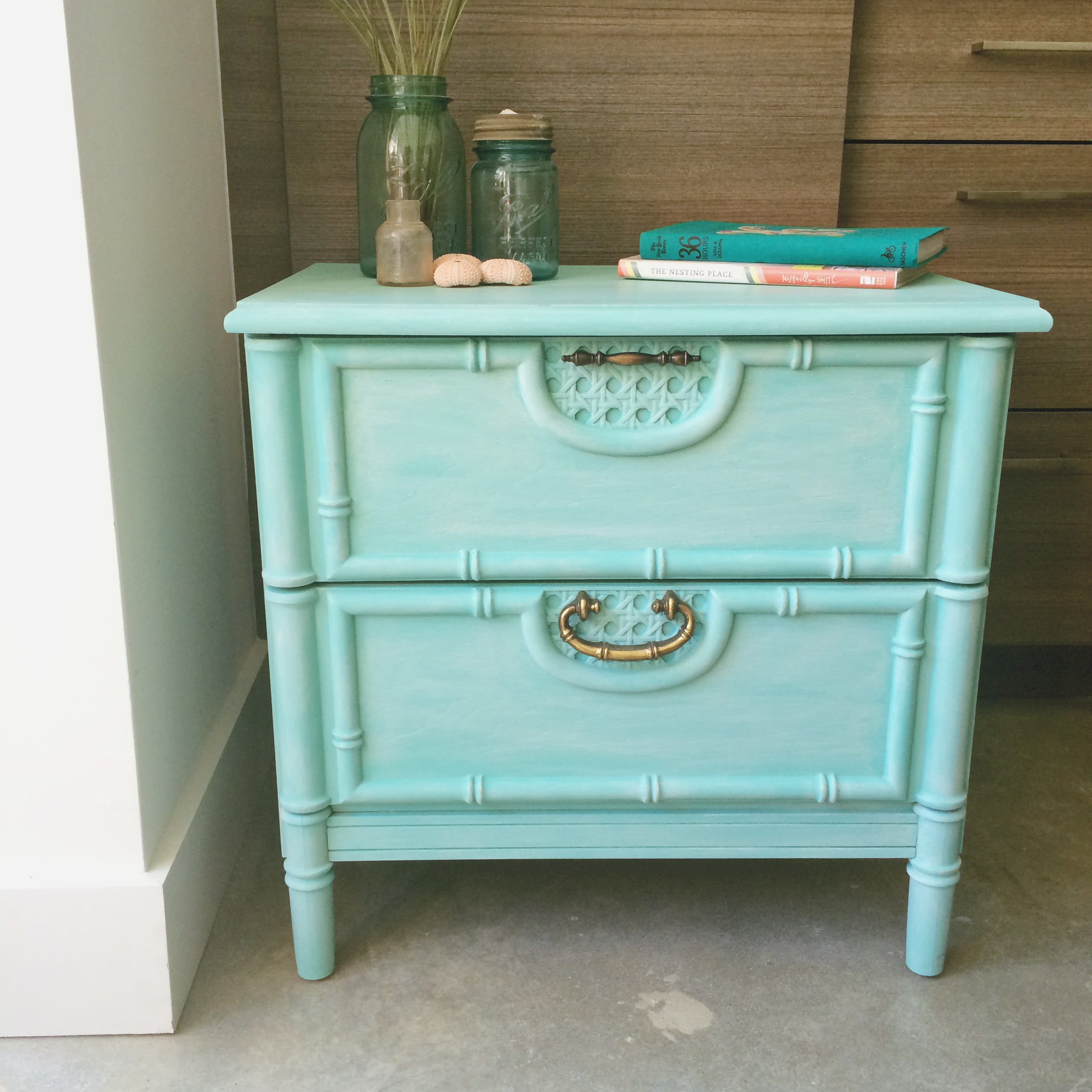 jo-torrijos-a-simpler-design-atlanta-chalk-paint-furniture-turquoise-nightstand-bamboo-4.jpg