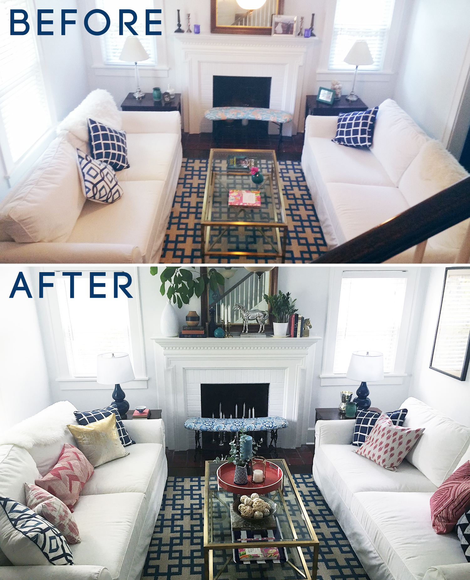 Living Room Before And Afters