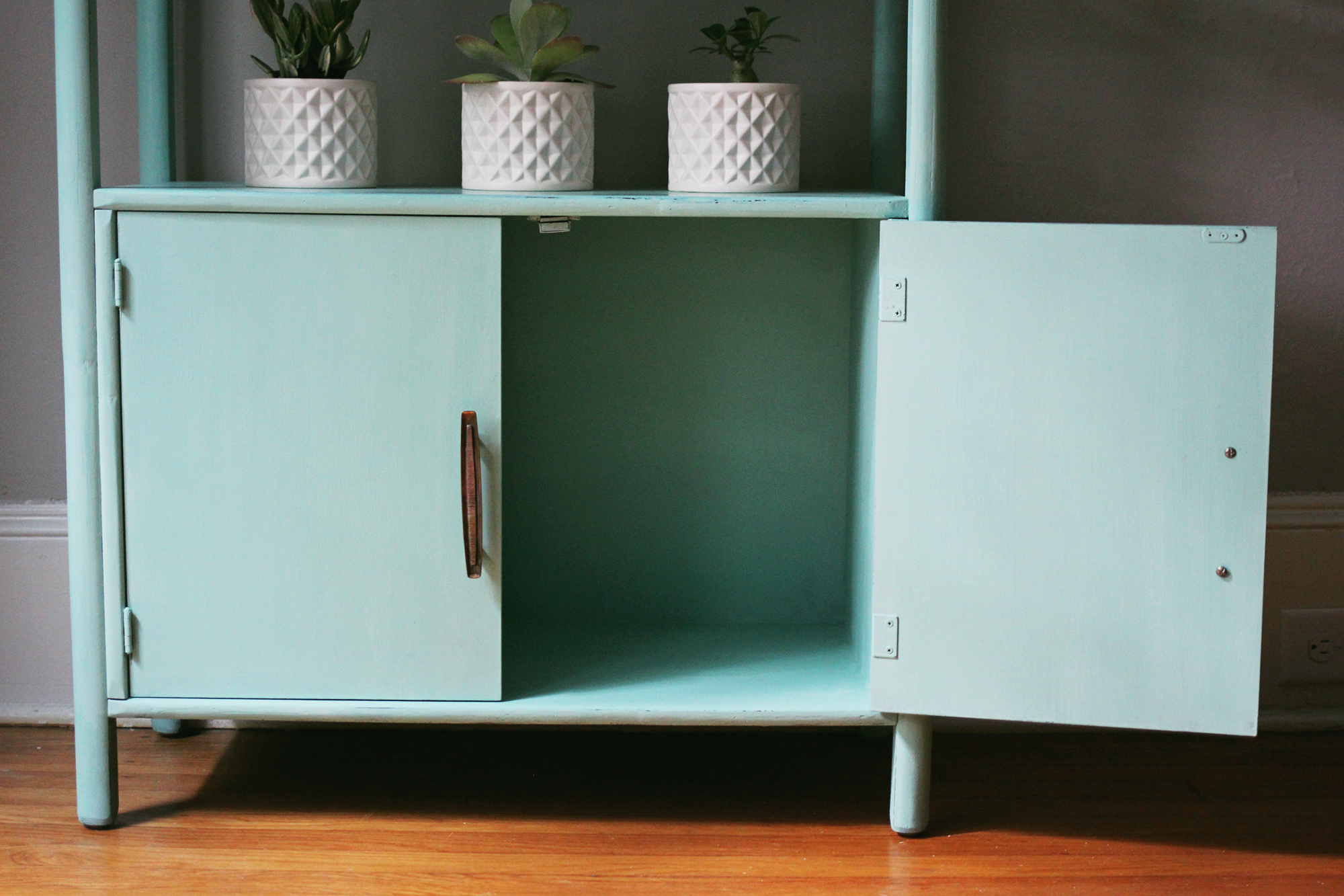 jo-torrijos-a-simpler-design-atlanta-painted-furniture-annie-sloan-mint-green-bookcase-mid-century-10.jpg