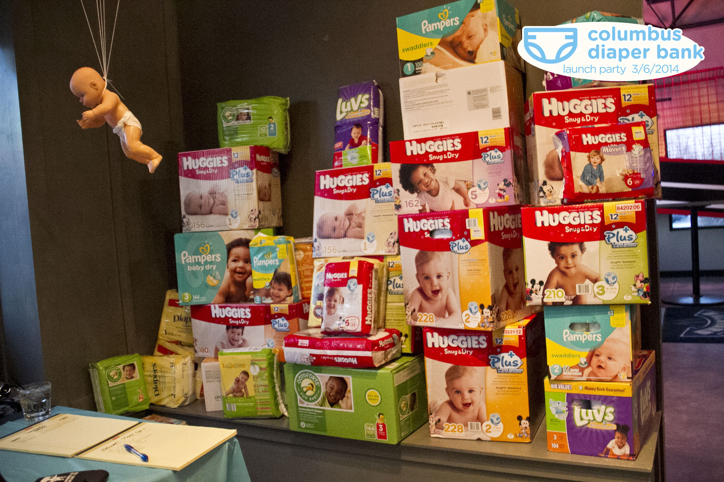 4,196 diapers!