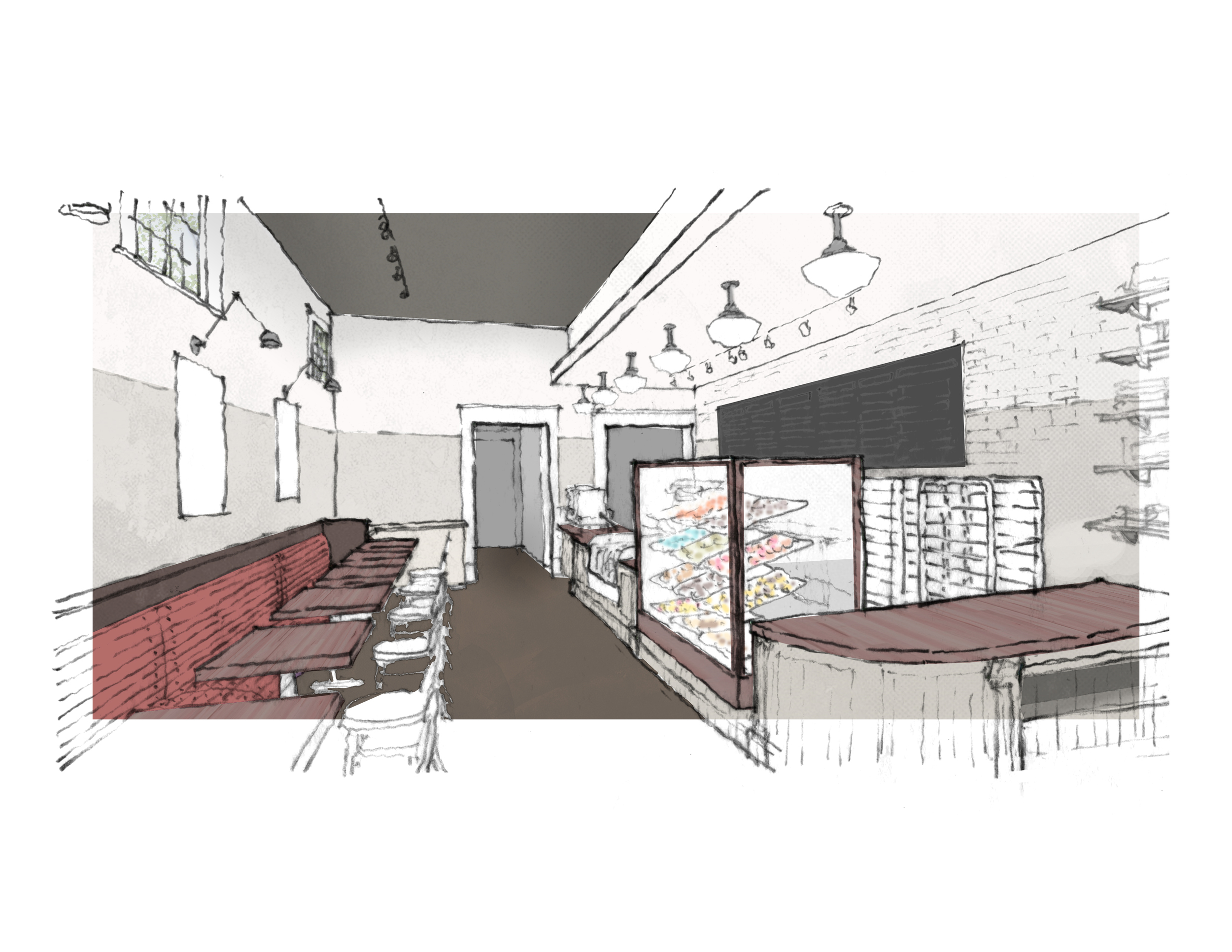 This is the design for the new Revolution Doughnuts location in Inman Park.
