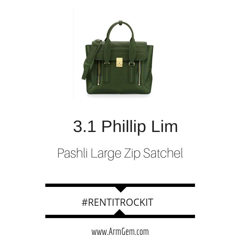 Phillip Lim Pashli Large Zip Satchel Bag Green.png