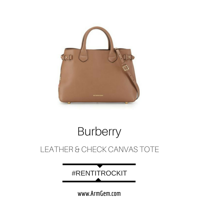 Burberry Leather and check canvas tote.png