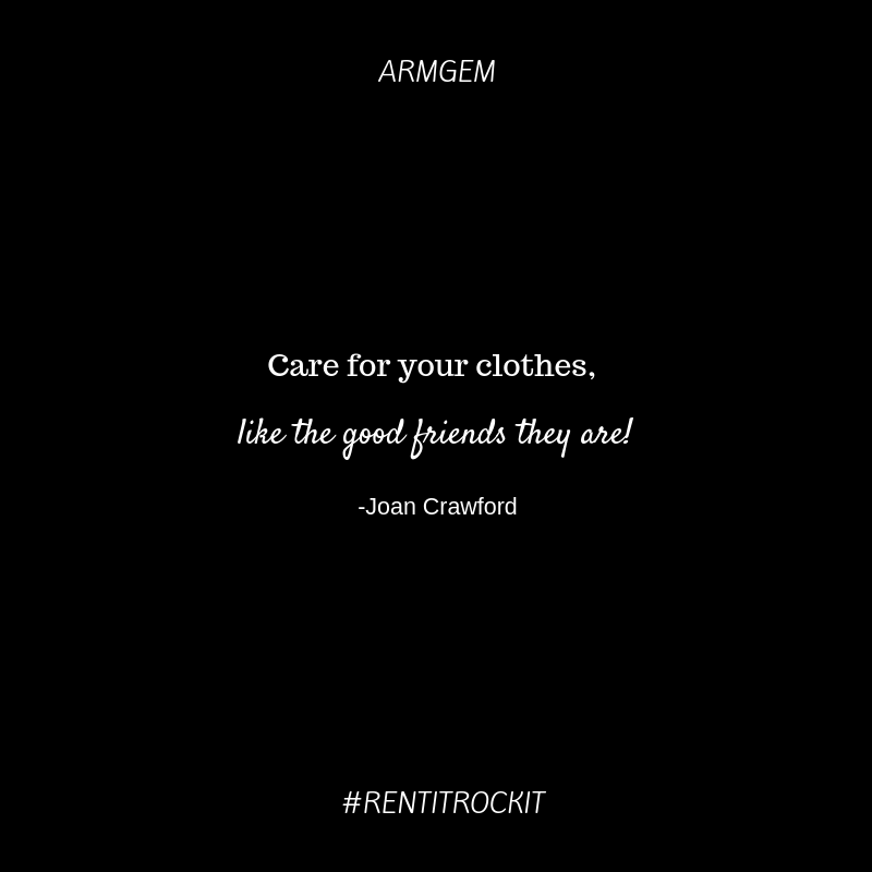 Joan Crawford Quote our clothes our friends.png