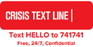 Crisis Text Line, Text HELLO to 741741