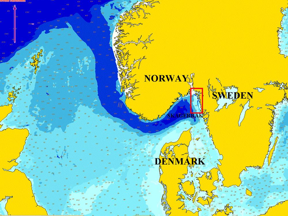 Map Kosterhavet and Hvaler